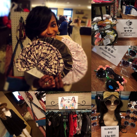 Turbans and sunnies...yes please! The Blue Bird Apparel table was amaze!