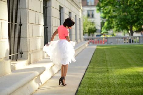 celfie, tulle skirt, windsor tulle skirt, H&M top, stl style blogger, style, target heels, Kalhu James Photography