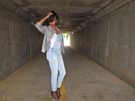 overalls, summer style, charlotte russe heels, wet seal overalls, goodwill, thrift finds, bstyle, stl style blogger
