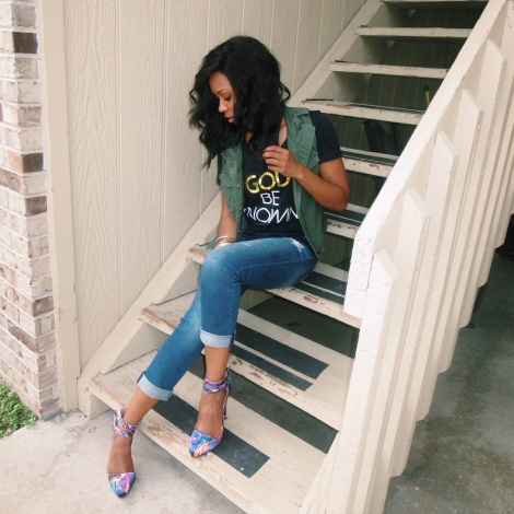 god be knowin t-shirts, lovestyletransform, women's fashion, stl fashion blogger, privileged heels, summer fashion
