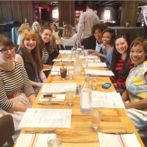 All the blogger babes!  Pic courtesy of Sarah Stallman